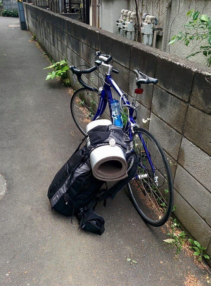 Vélo et sac à dos